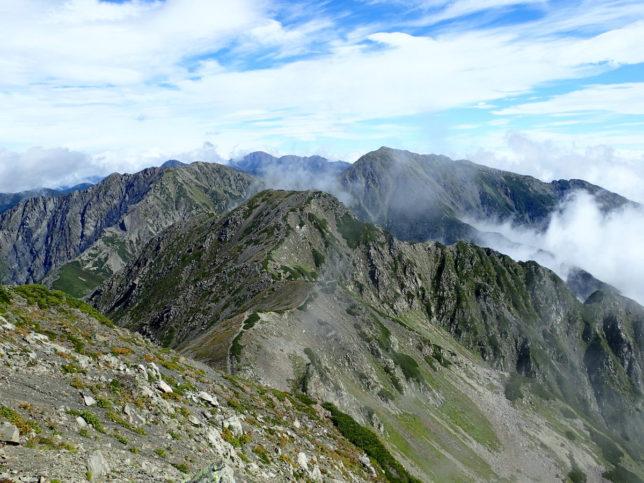 赤石岳からの展望