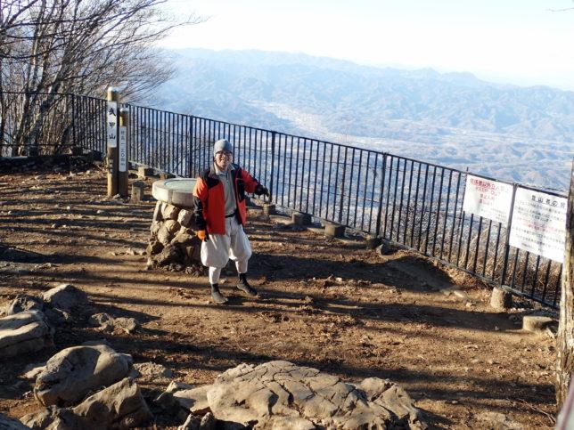 浅間山がくっきりと見えた武甲山の頂上
