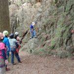 平戸の岩場で岩訓Ⅱ