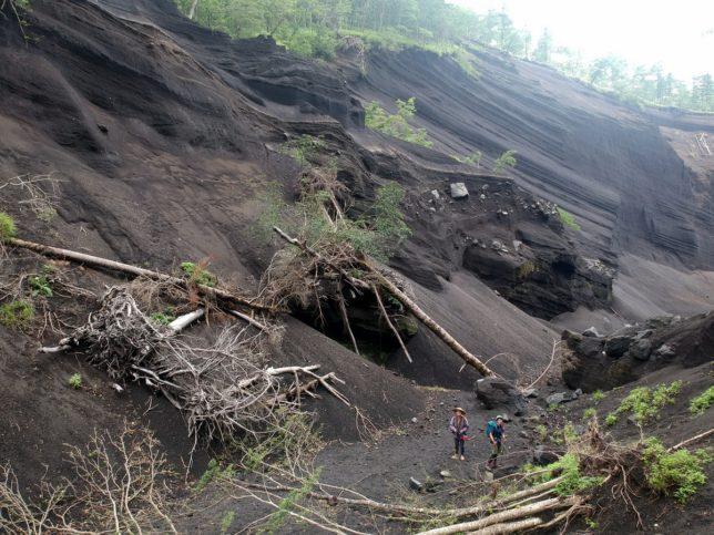 台風の影響か谷はだいぶ荒れてました
