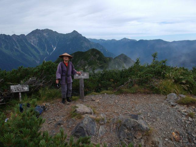 霞沢岳の頂上に着きました
