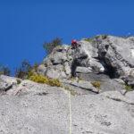 二子山中央稜マルチピッチクライミング