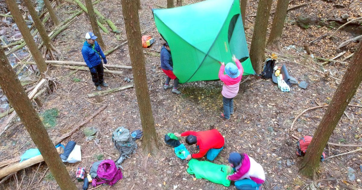 テントの撤収