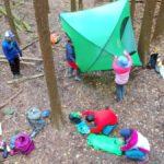 テント生活の技を学ぶ