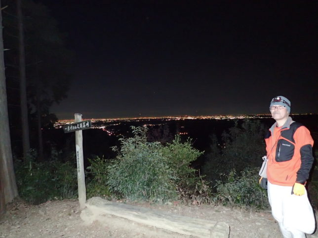 夜景が美しい天覚山。オリオン座も見えました