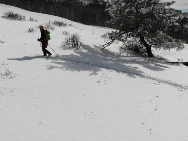 雪面が固ければかなり登れます