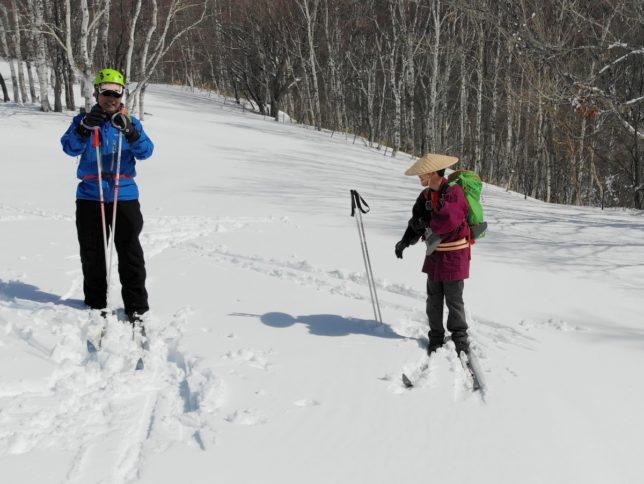 天気も雪も絶好の条件。のんびりと滑りました