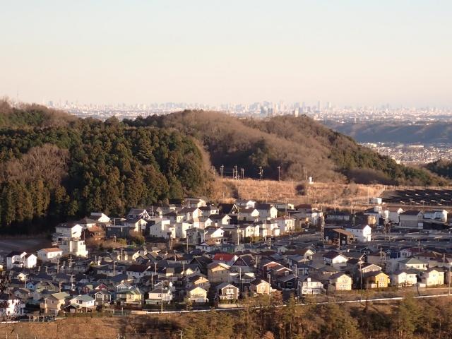 永田山からは都心部がくっきり見えました