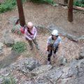 日和田山の岩場で初リード